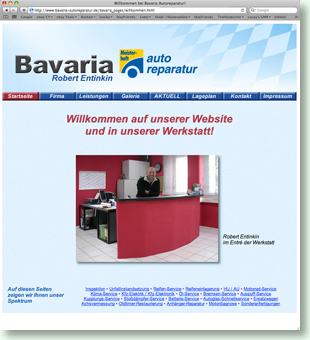 Website Bavaria Autoreparatur