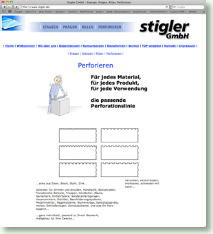 Website Stigler GmbH
